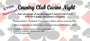 Country Club Casino Night