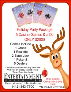 2016 Casino Christmas party deal