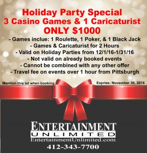 Holiday Casino party Special from 2016