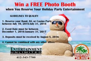 Free Photo Booth for your casino party Special Advertisement