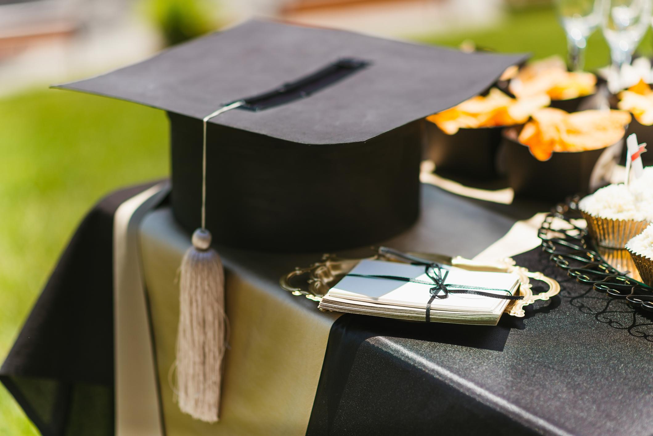 Graduation Cap on table