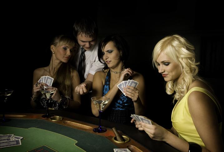 outdoor casino party