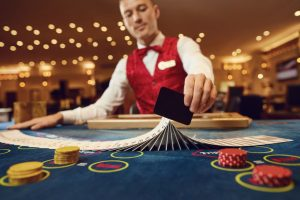 Professional Dealer at a Casino Party